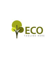 Eco logo template design vector