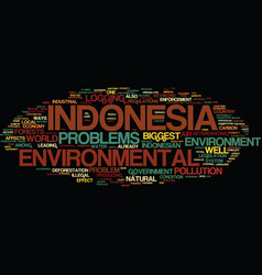 Environmental problems in indonesia text vector