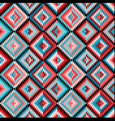 Ethnic rhombus multicolor tribal seamless pattern vector