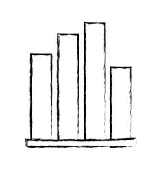 figure statistics graphic bar diagram design vector image