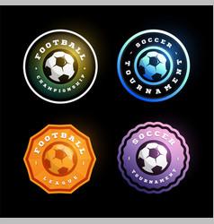 football soccer circular logo set modern vector image