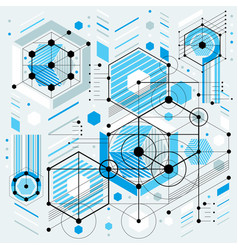 Future technology drawing industrial wallpaper vector