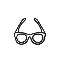 Glasses sketch icon vector