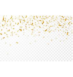 gold confetti celebration carnival falling shiny vector image