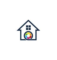lens house logo icon design vector image