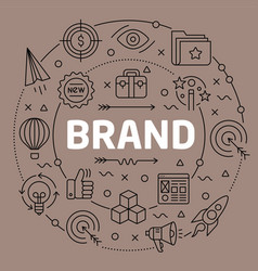 linear brand vector image