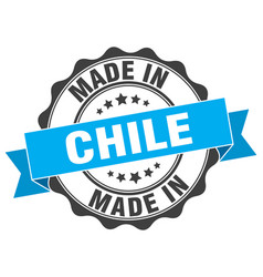 Made in chile round seal vector