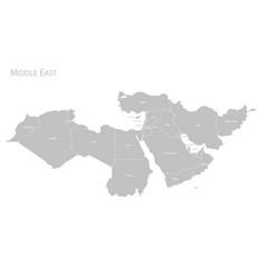Map o middle east vector