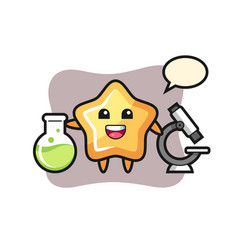 Mascot character star as a scientist vector