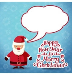Merry christmas Santa Claus with speech bubble for vector