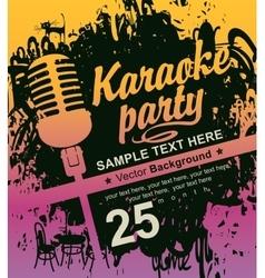 Microphone for karaoke parties vector