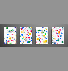 mixture of acrylic paints fluid art collection vector image