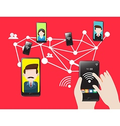 Mobile technology cellular communication vector