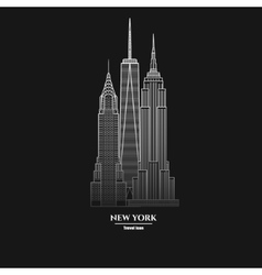 New York Skyscraper Icon 1 vector image