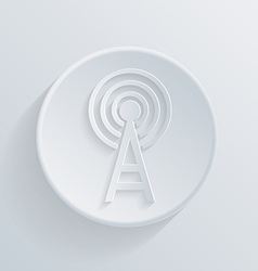 paper flat icon with a shadowtower of the wi fi vector image