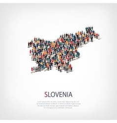 people map country slovenia vector image