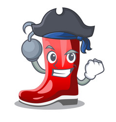 Pirate rubber boots in a agricultural cartoon vector