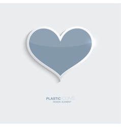 Plastic icon heart symbol vector image