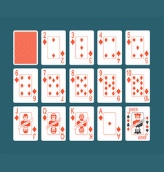 Playing cards diamonds set vector