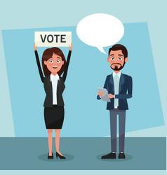 politicians in vote campaign vector image