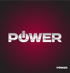 Power text logo vector