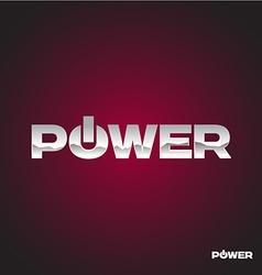 Power text logo vector