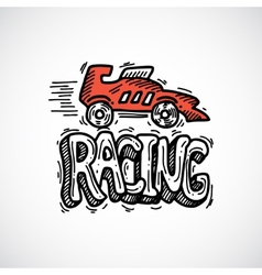 Racing Icon Sketch vector