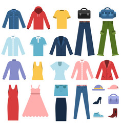 set different clothes for male and female vector image