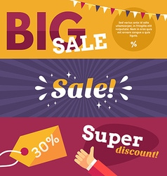 Set of Flat Design Big Sale Banners Concepts for vector image