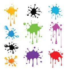 Set paint splash vector