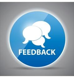 Shine glossy computer icon feedback vector