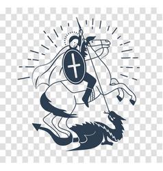 Silhouette icon saint georgi vector