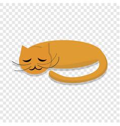sleeping cat icon cartoon style vector image