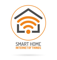 Smart home and internet things logo vector