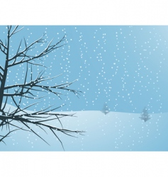 Snowy winter tree vector