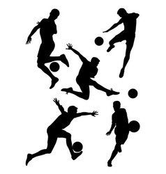 soccer player silhouette 03 vector image