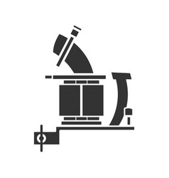 Tattoo machine frame with coils glyph icon vector