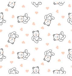 Teddy bear plush seamless pattern vector