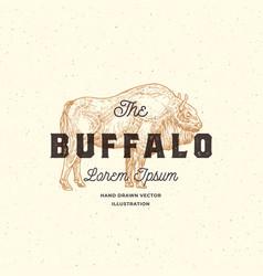 the buffalo abstract sign symbol or logo vector image