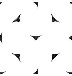 Thongs pattern seamless black vector