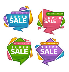 uper sale collection of bright discount bubble vector image vector image