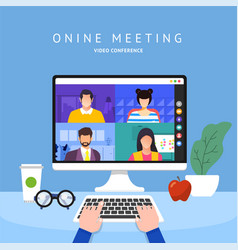 video conference 21 vector image