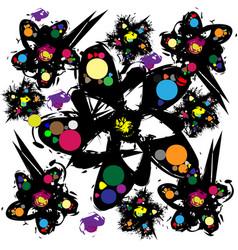 vintage pattern floral background vector image