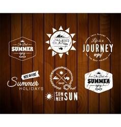 Vintage summer holidays typography design vector