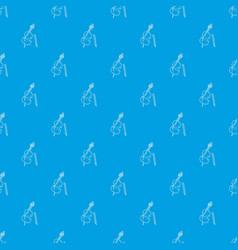 violin pattern seamless blue vector image