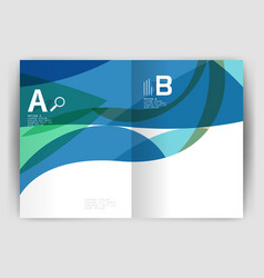 Wave design business brochure or annual report vector