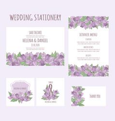 wedding aquilegia stationary flower vector image