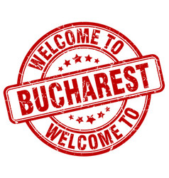Welcome to bucharest vector