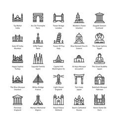 World monuments vector