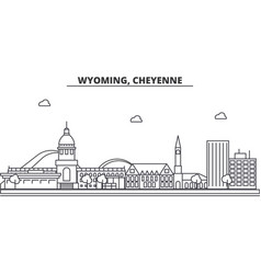 wyoming cheyenne architecture line skyline vector image